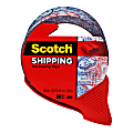"""Scotch® Decorative Shipping And Packaging Tape With Dispenser, 2"""" x 32.8 Yd., Passport"""