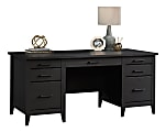 "Sauder® Summit Station 66""W Executive Desk, Raven Oak"
