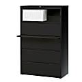 "WorkPro® 36""W Lateral 5-Drawer File Cabinet, Metal, Black"