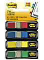 """Post-it® Notes Flags, 3/8"""" x 1-7/10"""", Assorted Standard Colors, 85 Flags Per Dispenser, Pack Of 4 Pads"""