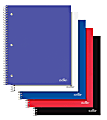 """Office Depot® Brand Stellar Poly Notebook, 8-1/2"""" x 11"""", 1 Subject, College Ruled, 80 Sheet, Assorted Colors, Pack Of 5 Notebooks"""