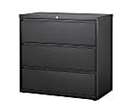 "WorkPro® 42""W Lateral 3-Drawer File Cabinet, Metal, Black"