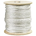 "Office Depot® Brand Twisted Polyester Rope, 2,900 Lb, 3/8"" x 600', White"