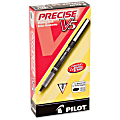 Pilot® Precise™ V5 Liquid Ink Rollerball Pens, Extra Fine Point, 0.5 mm, Black Barrel, Black Ink, Pack Of 12
