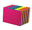 Pendaflex® Top-Tab A-Z File Guides, Polypropylene, Letter Size, 1/5-Cut Tab, Assorted Colors, Pack Of 25