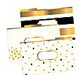 "Barker Creek Tab File Folders, 8 1/2"" x 14"", Legal Size, 24K Gold, Pack Of 9"