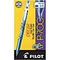 Pilot® Gel Ink Rollerball Pens, P-700, Fine Point, 0.7 mm, Blue Barrel, Blue Ink, Pack Of 12 Pens