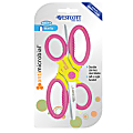 """Westcott Kids' Scissors With Antimicrobial Protection, 5"""", Blunt, Assorted Colors, Pack Of 2 Scissors"""