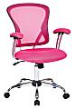Office Star™ Avenue Six Juliana Mesh Task Chair, Pink/Silver