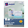 """Avery® Quarter-Fold Greeting Cards, 4 1/4"""" x 5 1/2"""", White, Pack Of 20"""