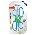 """Westcott Kids' Scissors With Antimicrobial Protection, 5"""", Pointed, Assorted Colors, Pack Of 2 Pairs"""