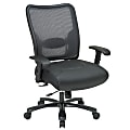Office Star™ Big And Tall Bonded Leather/Air Grid® Mesh Back High-Back Chair, Black