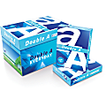 """Double A Everyday Copy And Multi-Use Paper, Letter Size (8 1/2"""" x 11""""), 96 (U.S.) Brightness, 20 Lb, Carton Of 10 Reams"""
