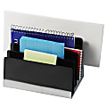 """Innovative Storage Designs Workspace Accessories 5-Slot Desk Sorter, 4 7/8""""H x 6 3/5""""W x 4 2/5"""", Black"""