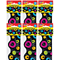 TREND Color Harmony™ Swirl Dots on Black Terrific Trimmers®, 39 Feet Per Pack, 6 Packs