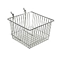 Azar Displays Chrome Wire Baskets, Small Size, Silver, Pack Of 2