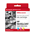 Office Depot® Brand OD564XLCMY-C Remanufactured Tri-Color Ink Cartridge Replacement For HP 564XL, Pack Of 3