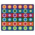 """Flagship Carpets Printed Rug, 10'9""""H x 13'2""""W, Dot Spots"""