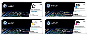 HP 414X HP414XSET-OD High-Yield 4-Color Original Toner Cartridges, Pack Of 4 Cartridges