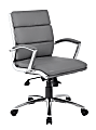 Boss CaressoftPlus™ Mid-Back Chair, Gray/Black