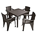 Inval 5-Piece Table And Chair Set, Taupe