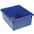 "Romanoff Stowaway® 5"" Letter Box Without Lid, Small Size, Blue, Pack Of 4"