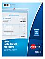 "Avery® Vinyl Job Ticket Holder, 9"" x 12"", Pack Of 10"