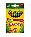 Crayola® Crayons, Assorted Colors, Pack Of 24 Crayons