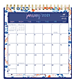 """Blue Sky™ Dabney Lee Monthly Desk Calendar With Stand, 6-1/16"""" x 6-3/8"""", Enchanted Forest, January To December 2021, 122357"""