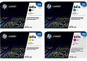 HP 641A HP641ASET-OD 4-Color Original Toner Cartridge Set, Pack Of 4 Cartridges