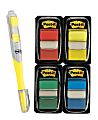 Post-it® Notes Flags, With Flag Gel Pen, Assorted Primary Colors, 50 Flags Per Pad, Pack Of 4 Pads
