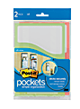 "Post-it® Pockets, 5 1/2"" x 8"", Assorted Colors, Pack Of 2"