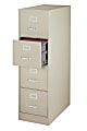 "WorkPro® 26-1/2""D Drawer 4-Drawer Letter-Size File Cabinets - Standard, 26 Cabinet., Metal wo 4-Drawer Letter-Size File Cabinet, Metal, Putty"