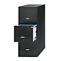 "Realspace® 18""D Vertical 3-Drawer File Cabinet, Metal, Black"