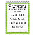 """Top Notch® Polka Dot Chart Tablets, 24"""" x 32"""", 1 1/2"""" Ruled, Green, Pack Of 2"""