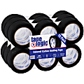 """Tape Logic® Carton-Sealing Tape, 3"""" Core, 2"""" x 110 Yd., Black, Pack Of 18"""