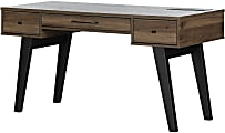 """South Shore Helsy 60""""W Computer Desk, Natural Walnut"""