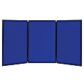 Quartet® ShowIt® 3-Panel Presentation System For Tabletop/Floor Display