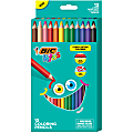 BIC® Kids Coloring Pencils, 4.4 mm, Assorted Colors, Pack Of 12 Pencils