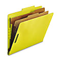 Nature Saver 2-Divider Classification Folders, Letter Size, Yellow, Box Of 10