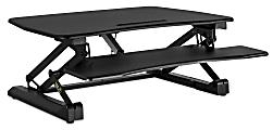 "Mount-It! MI-7927E Electric Standing Desk Converter With USB Port, 32""H x 41""W x 8""D, Black"