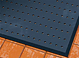 """M + A Matting CompleteComfort Floor Mat With Antimicrobial Protection With Holes, 48"""" x 72"""", Black"""