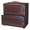 """Realspace® Broadstreet 30""""W 2-Drawer Lateral File Cabinet, Cherry"""