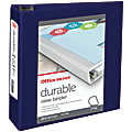 """Office Depot® Brand Durable View 3-Ring Binder, 3"""" D-Rings, 49% Recycled, Blue"""
