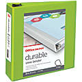 """Office Depot® Brand Durable View 3-Ring Binder, 3"""" D-Rings, 60% Recycled, Green"""