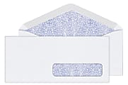 Office Depot® Brand #10 Security Envelopes, Right Window, Gummed Seal, White, Box Of 500