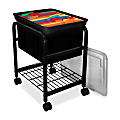 "Innovative Storage Rolling Metal File Cart, 25 5/8""H x 15 5/8""W x 18""D, Black"