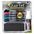 Quartet® EnduraGlide® Dry-Erase Markers, Kit, Fine, Assorted Colors, Pack Of 5