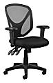 Realspace® MFTC 200 Ergonomic Mesh Mid-Back Task Chair, Black