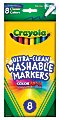 Crayola® Ultra-Clean Washable Color Markers, Thin Line, Assorted Classic Colors, Box Of 8